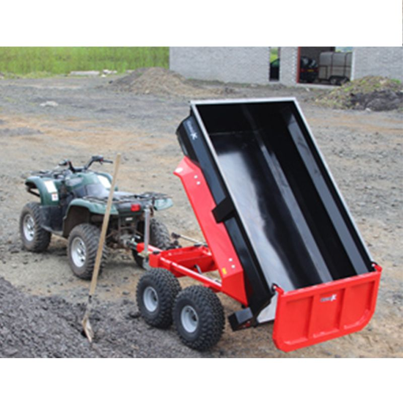 Garden Dump Trailer Hydraulic : Dump trailer with hydraulic tip for compact tractor