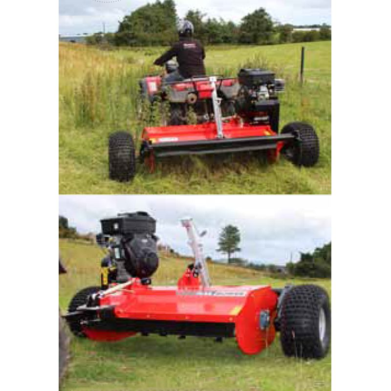 Atv Flail Mower With Hp Recoil V Twin Engine And Y Grass Blades